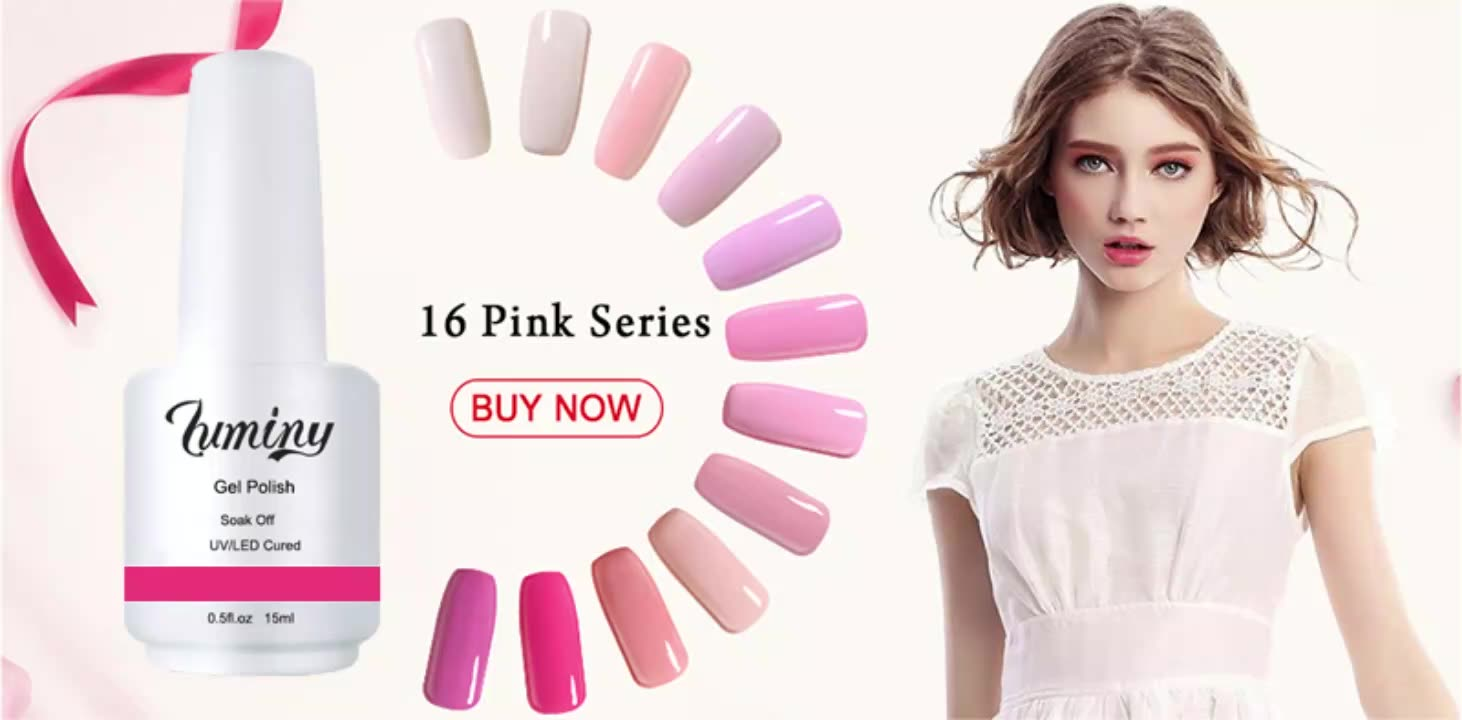 Luminy wholesale provide OEM service with private label uv gel nail polish with 1000 colors
