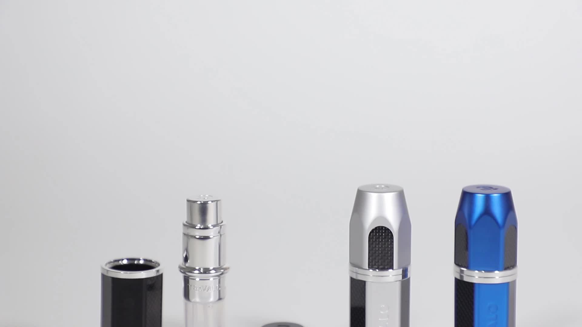 Herren Luxusmarke Kosmetikverpackung nachfüllbare Parfümsprühflaschen