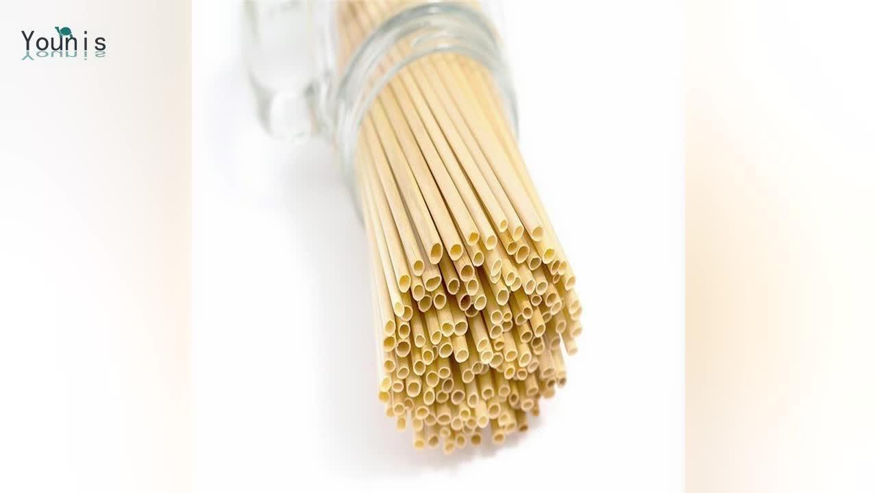 Yeni Ürün Tek Kullanımlık Doğal Hay Çavdar Biyobozunur İçme Pirinç Buğday Samanı