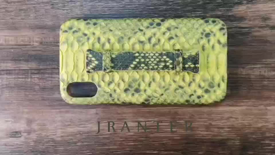 Top grade professional factory price python leather phone case for new i phone
