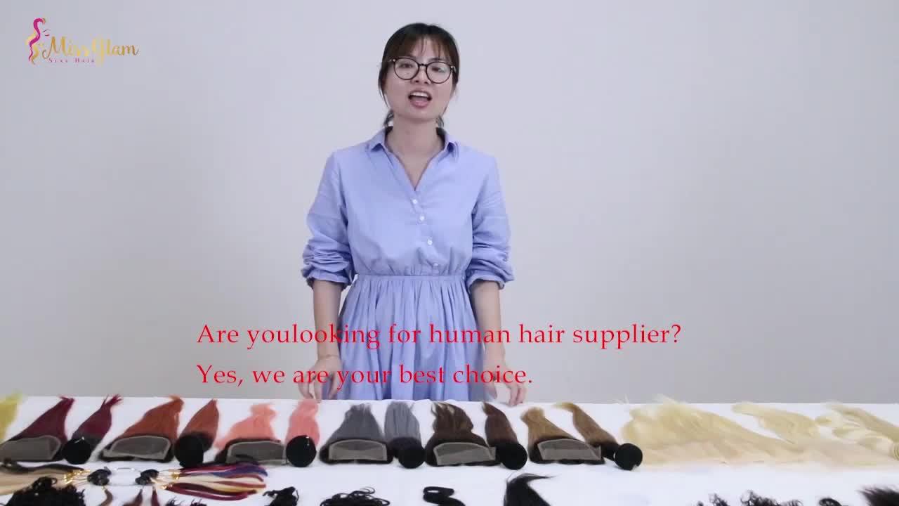Vietnam dell'onda del corpo di colore ombre di estensione dei capelli umani con chiusura, 100% estensione dei capelli umani e parrucche