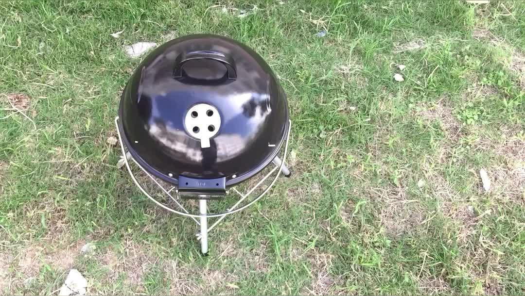 18 pulgadas kamado casera de carbón de barbacoa parrilla