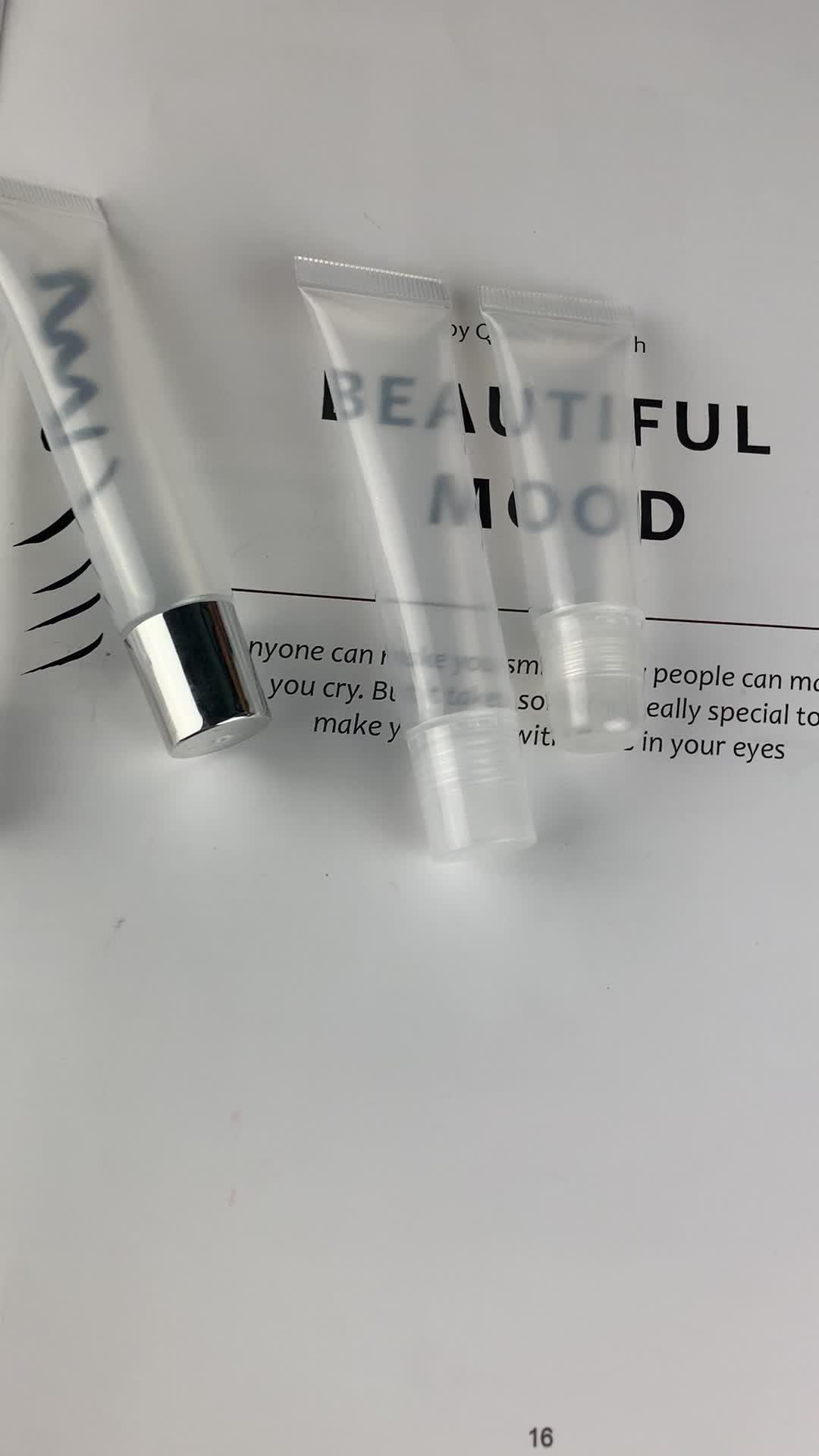도매 꽉 잡고 Tubes 립 Gloss Container 립스틱 화장품 포장 8 ML 꽉 잡고 플라스틱 립글로스 관