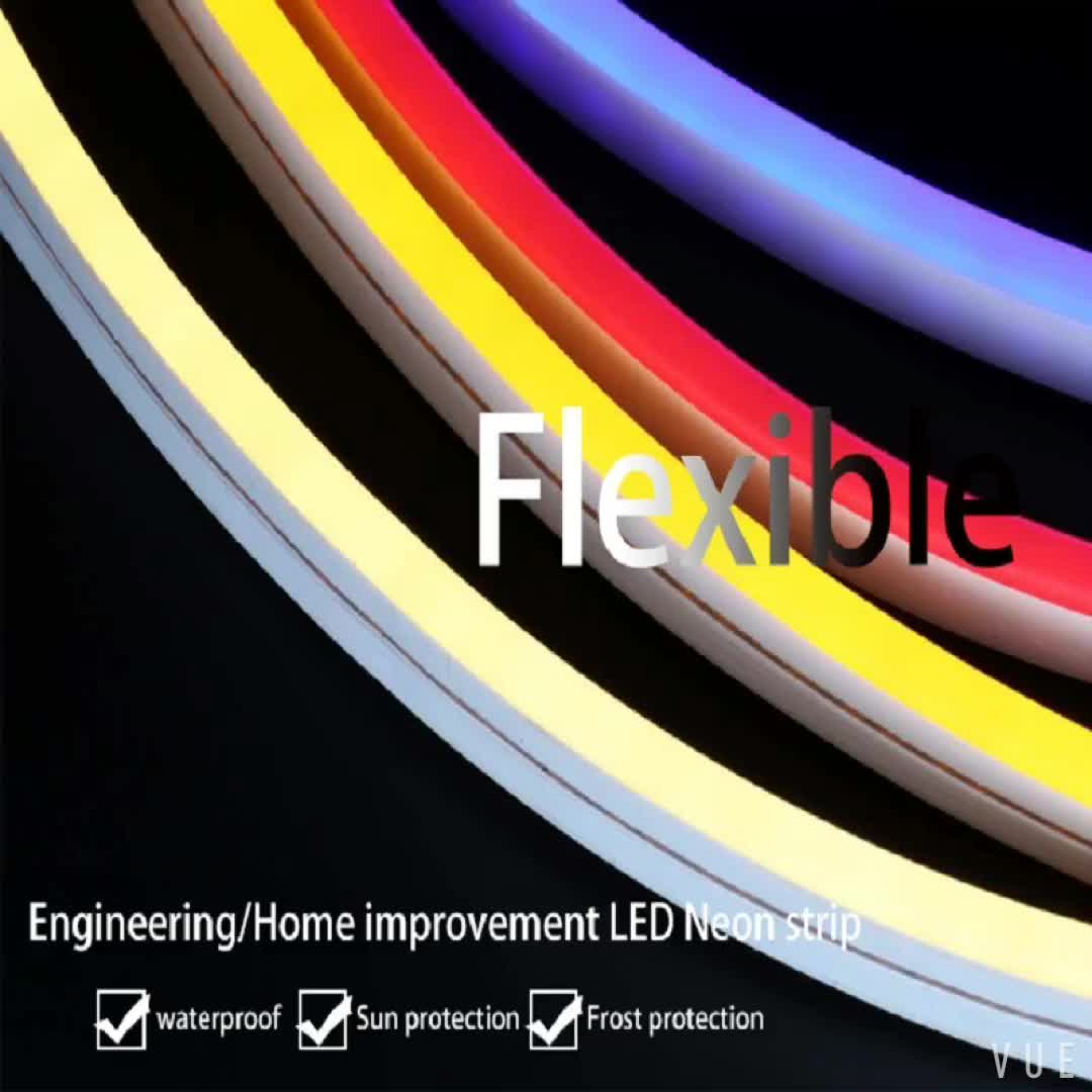 Factory neon led strip with 12v 24v colorful tube flexible neon for home rooms building lighting
