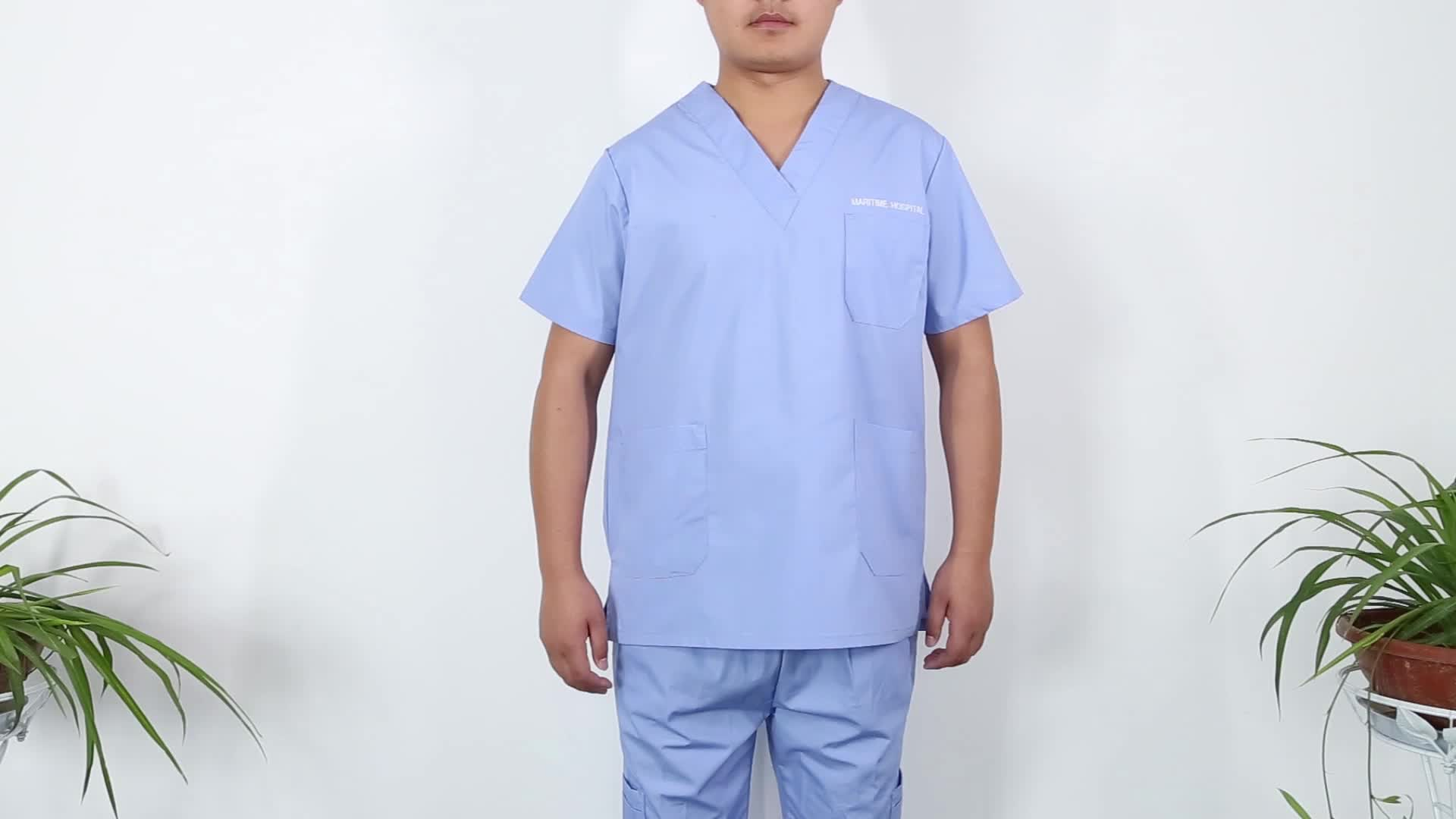 Unisex Medical Nursing Uniform Scrubs
