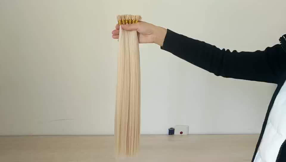 Full Ends Full Cuticles Popular Hair Colors Human Extensions Russian Hair Stick I Tip Hair