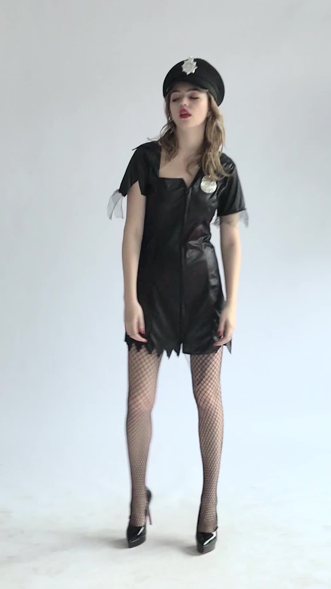China Sexy Police Zombie Halloween Costume For Women