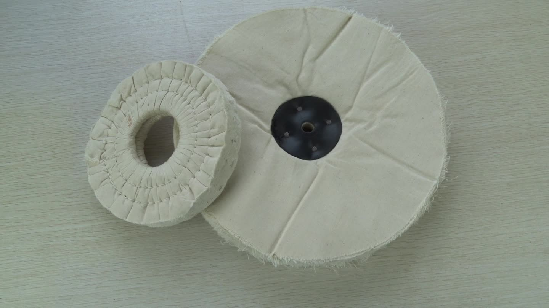 Rueda de pulido abrasiva de tela de algodón de alto estándar