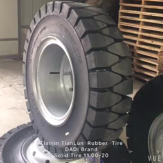 TianLun brands high quality 10.00-20 12.00-20 solid rubber truck tire