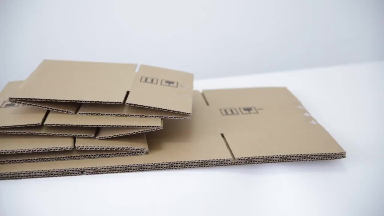 standard size #6 260x150x180 mm corrugated carton box for shipping for free samples