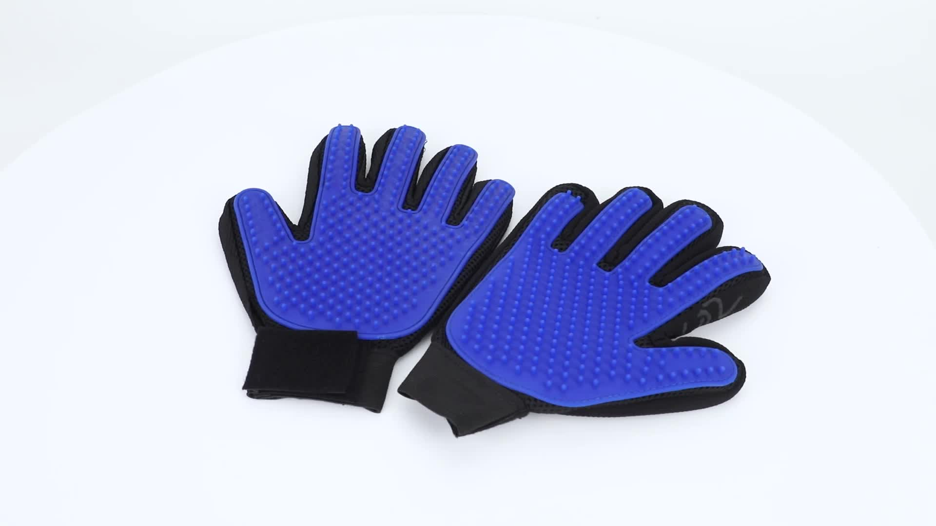 Pet Supplies Silicon Soft Luvas Pet Hair Remover Gloves mascota Pet Grooming Glove Deshedding Brush Glove with 260 Grooming Tips