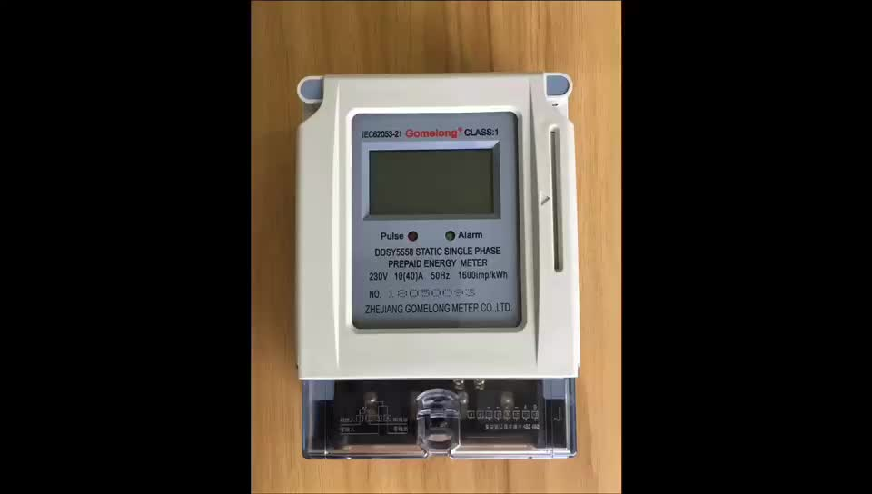 DDSY5558 Prepaid Electricity IC Card Kwh Energy Meter With Sim Card