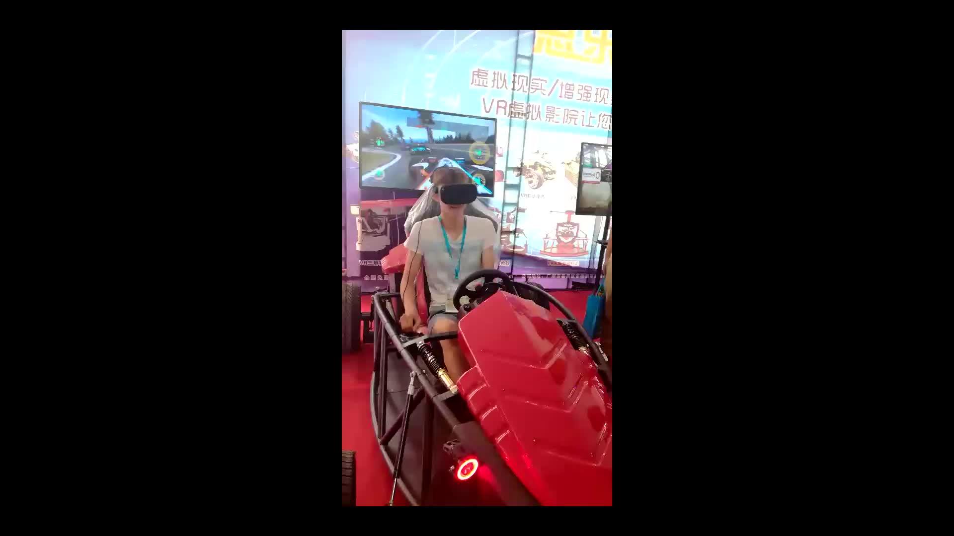 Simulador de condução de F1 experiência, vr óculos f1 com 9d, simulador de corridas de assento/assento jogo/simulador de f1
