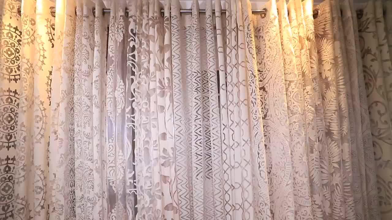 Rifornimento della fabbrica di Stile Naturale di Lino Puro Voile Tende Finestra Cieca