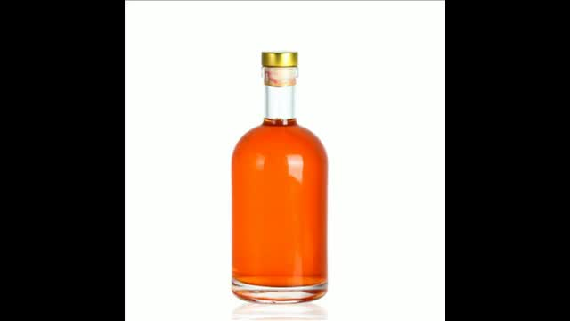 Empty 500ml absolut vodka glass bottle