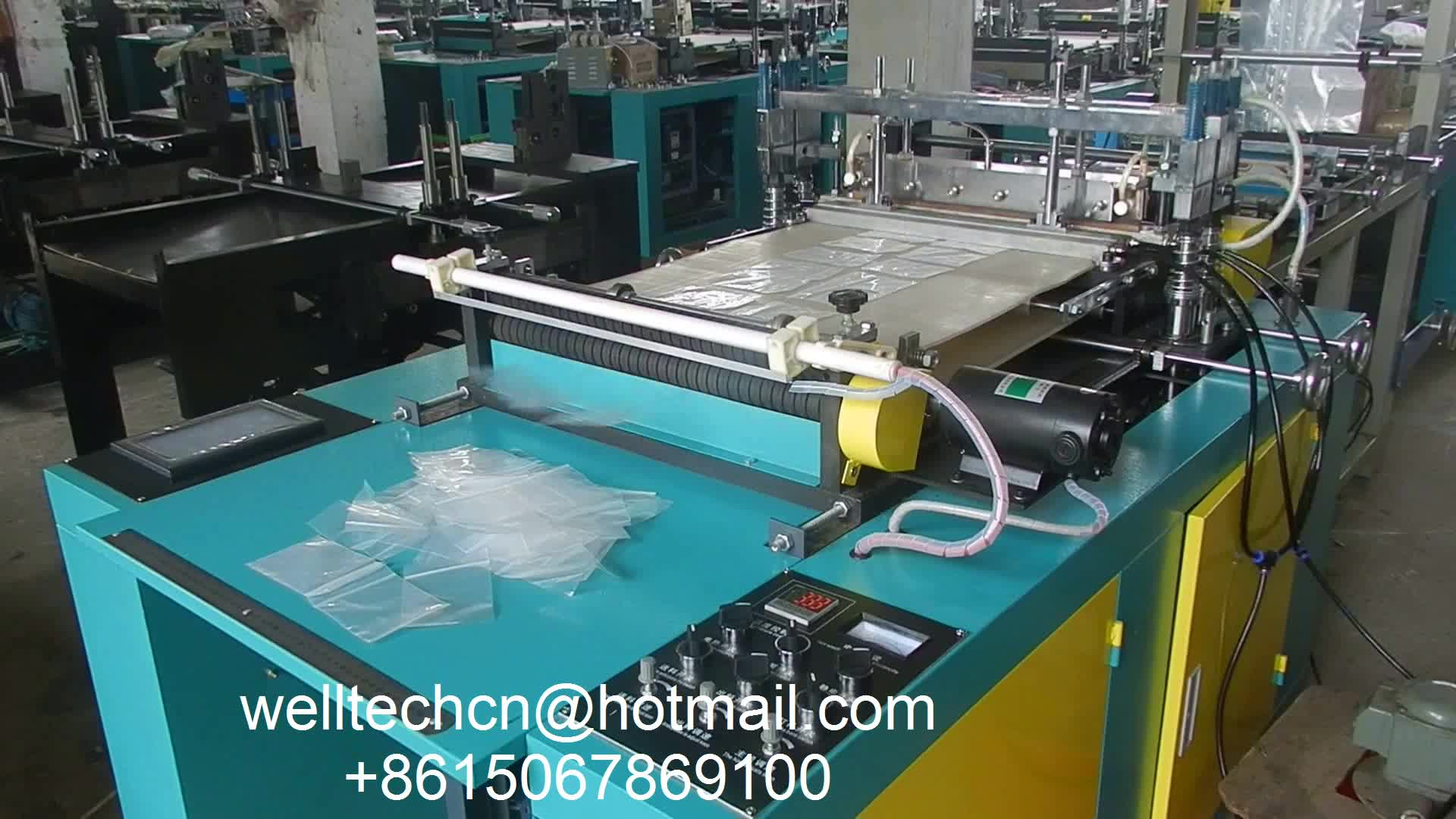 Automatic Computer Controlled Double Lines Grip Bag Sealing Cutting self closing plastic ziploc bag making machine