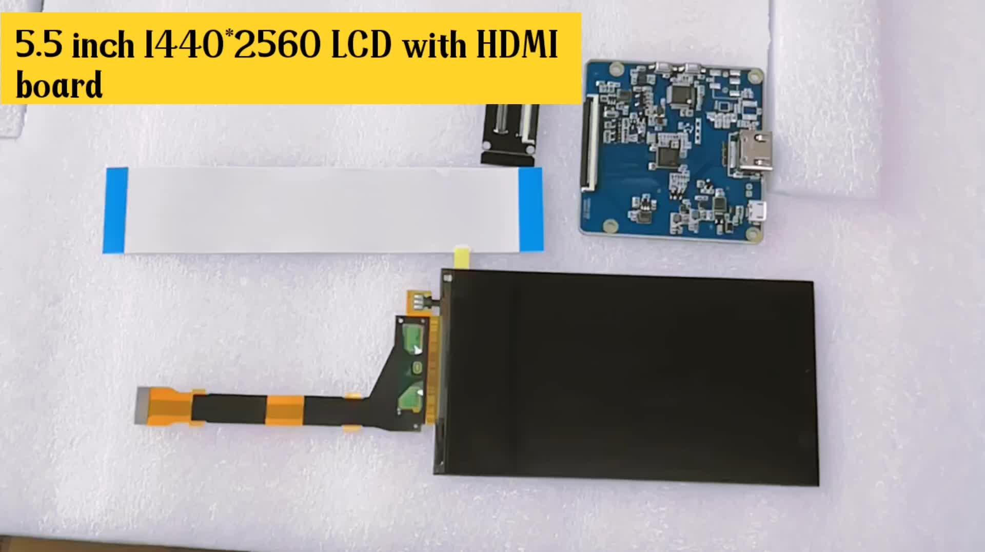 5.5 インチ 2 18k 1440 720p 1440*2560 解像度 ips LS055R1SX04 パネル mipi dsi インタフェース lcd 表示パネル hdmi に mipi ため vr 2017