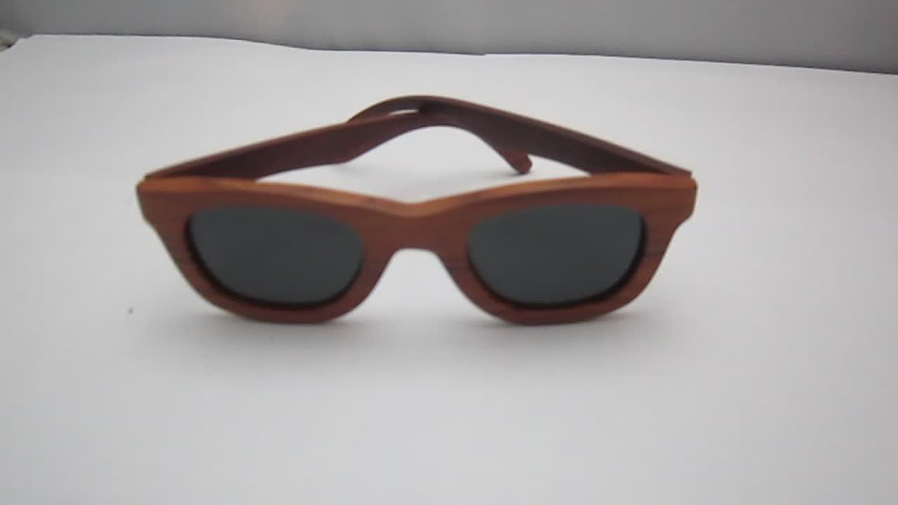 OEM Outdoor Natural Zebra Wood Polarized Sunglasses