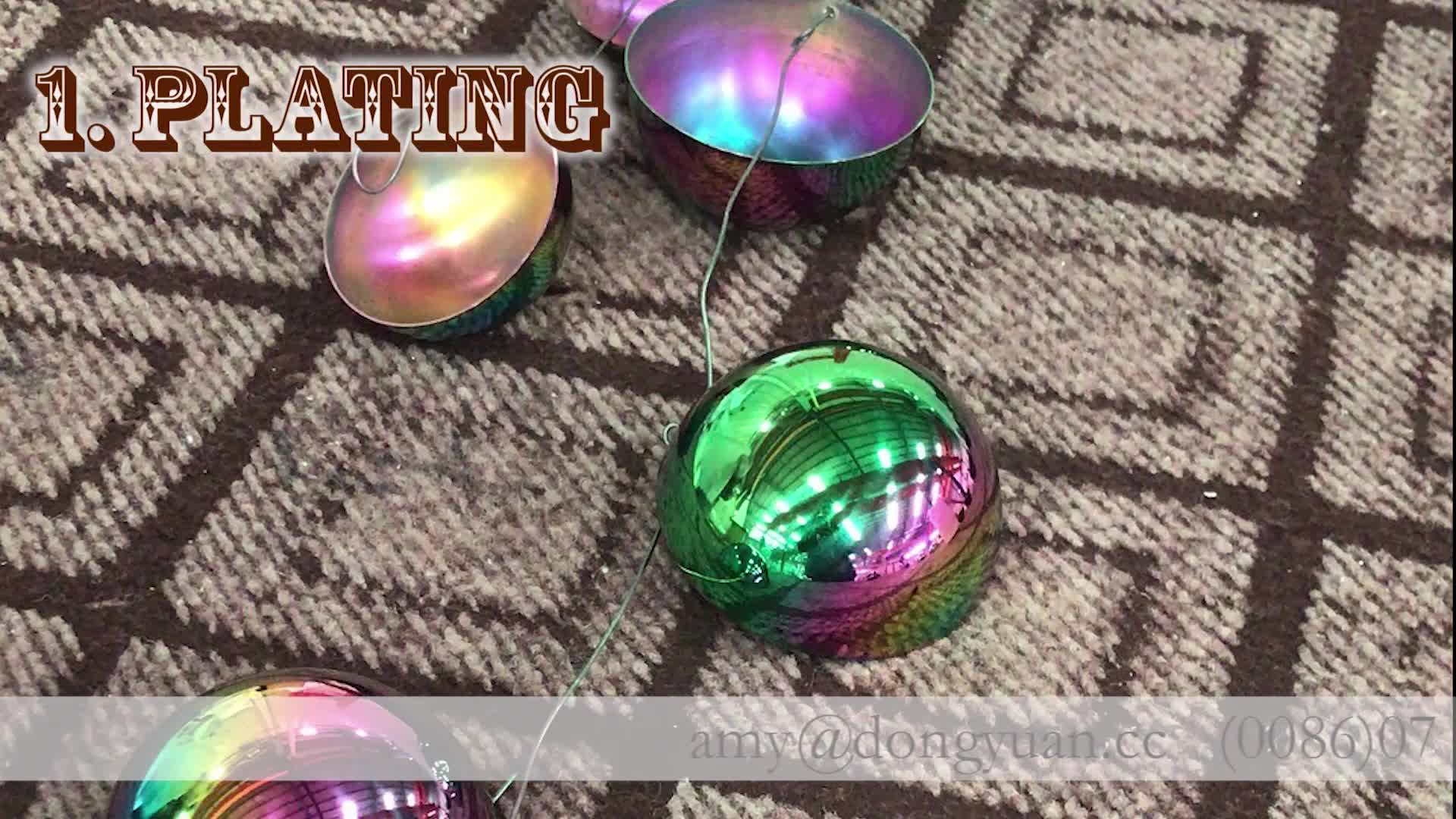 Premium Gazing Color Stainless Steel Ball for Christmas Holiday Decoration