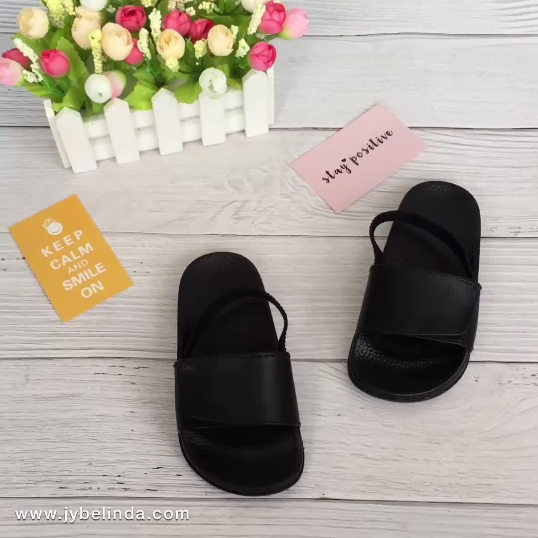High Quality Children Slide Sandal Black Adjustable Upper Slippers For Women