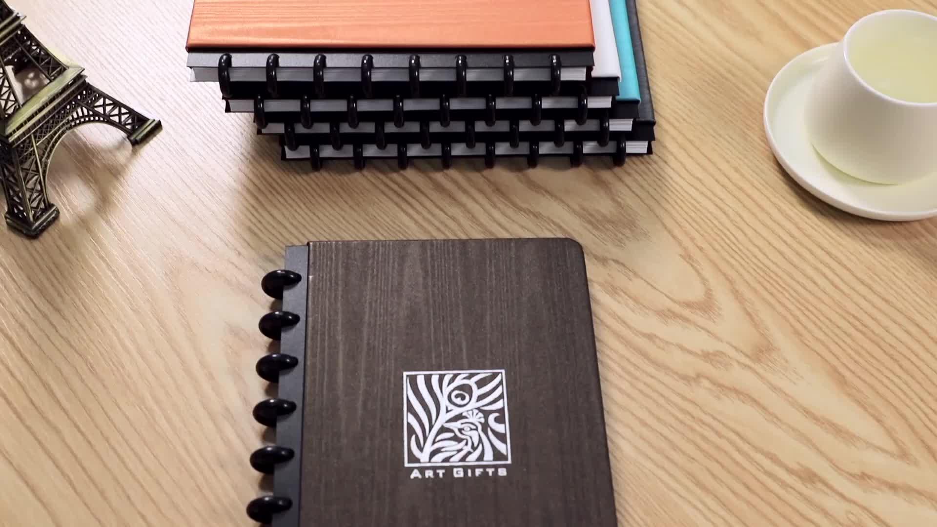 Prezzo del commercio all'ingrosso su misura di business in pelle disco vincolante notebook agenda planner 2020 di stampa