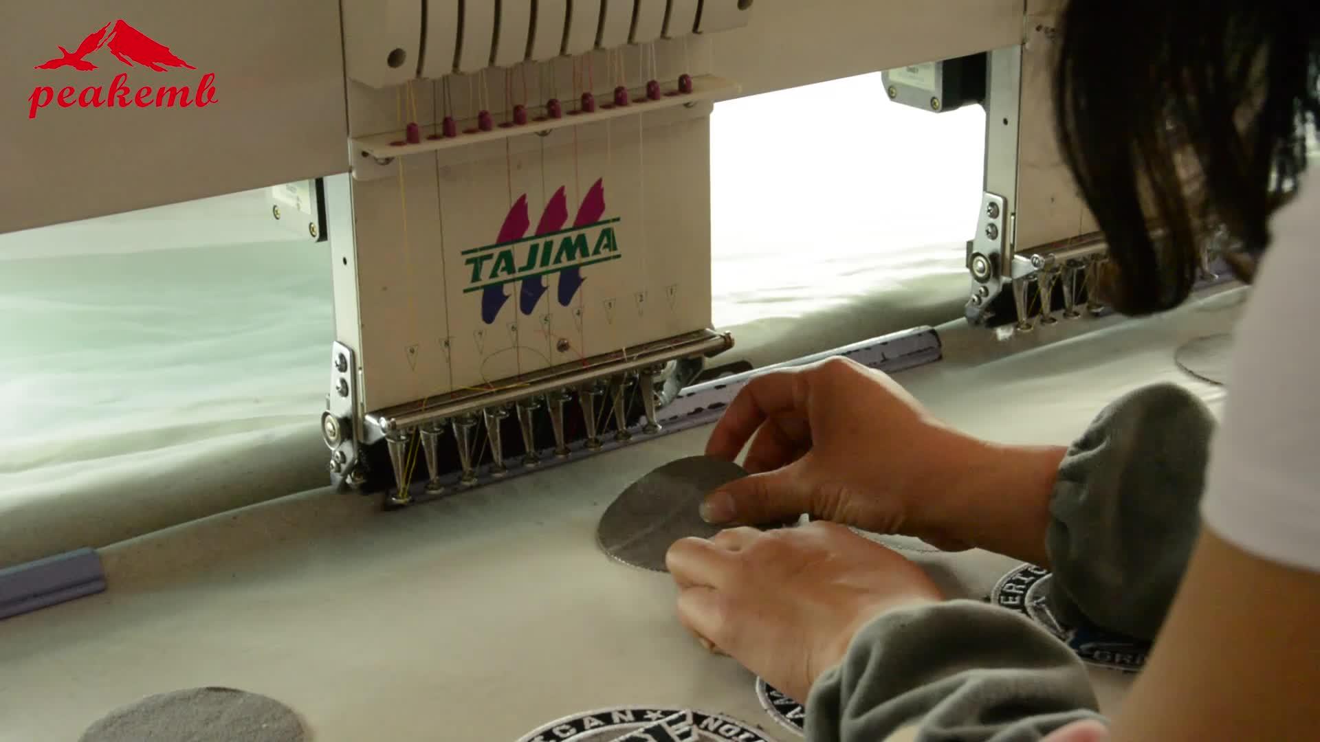 Bordado proveedor de fábrica nuevo diseño de cráneo parche para ropa