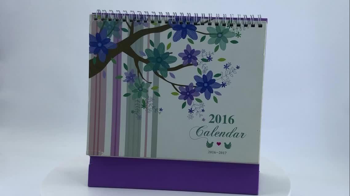 सस्ते थोक कस्टम डिजाइन 365 दिन कागज टेबल डिजिटल डेस्क कैलेंडर मुद्रण