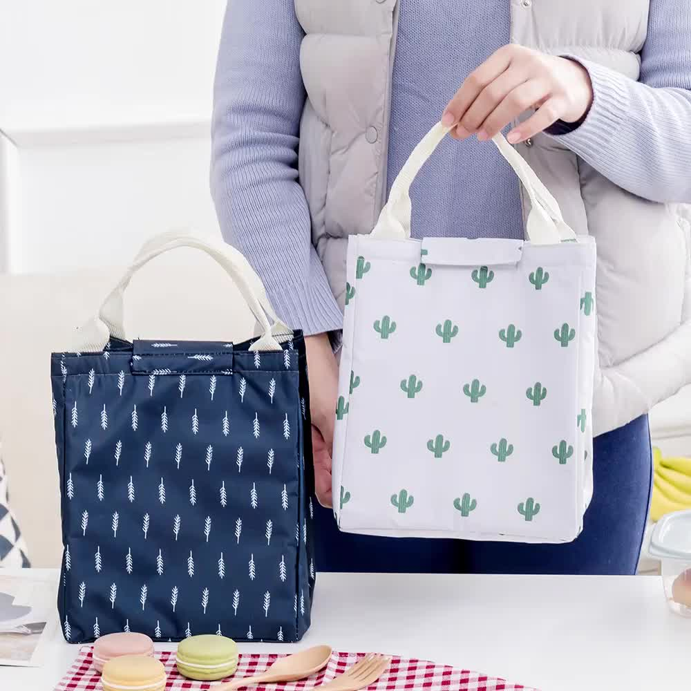 Large Picnic Storage Bag Travel Thermal Insulated Tote Lunch Cooler Bag