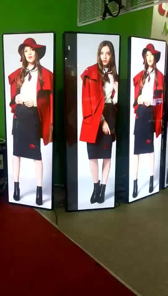 Super Slim Floor Stand P3 Mirror HD Advertising LED Poster Display Screen
