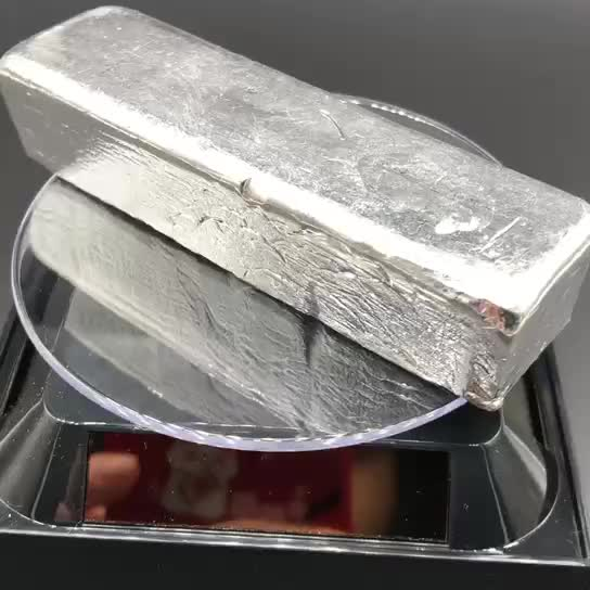 99,995 % indium ingots in zilver wit