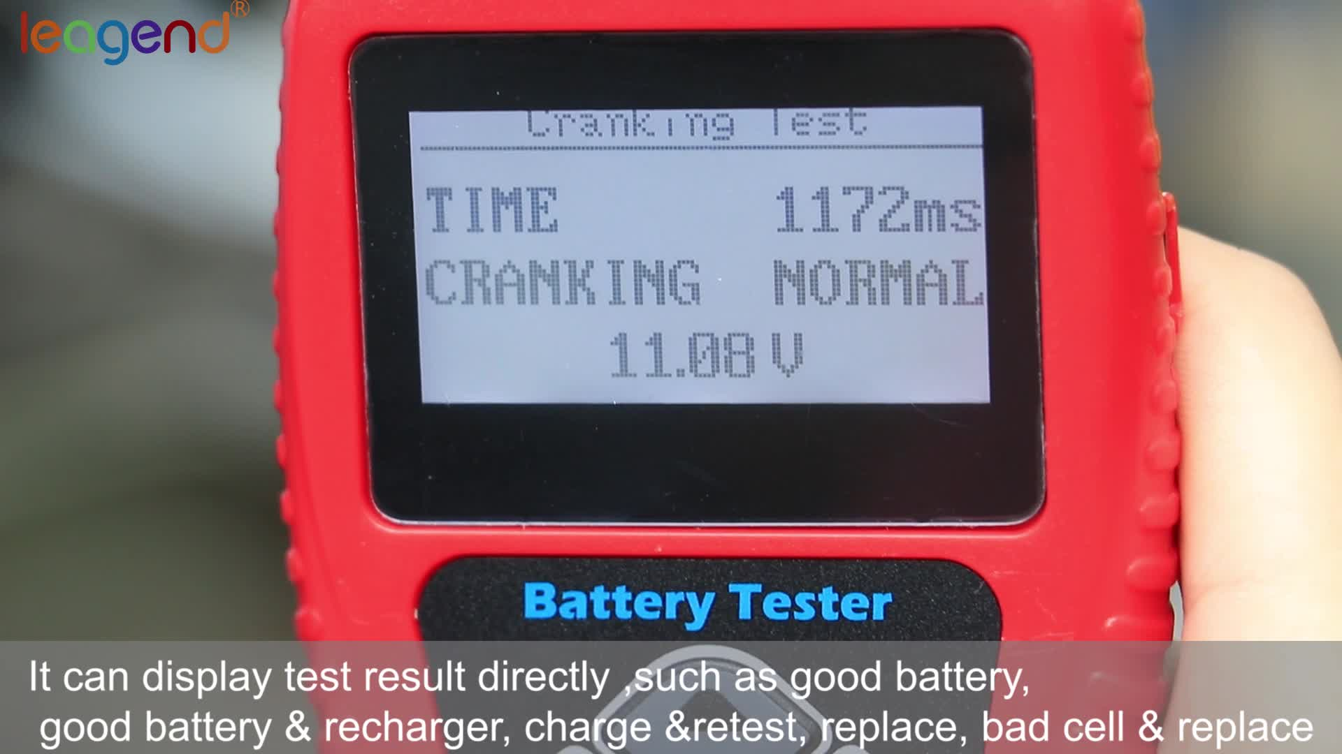 Car Battery Load conditions analyzer BA101 Battery Tester