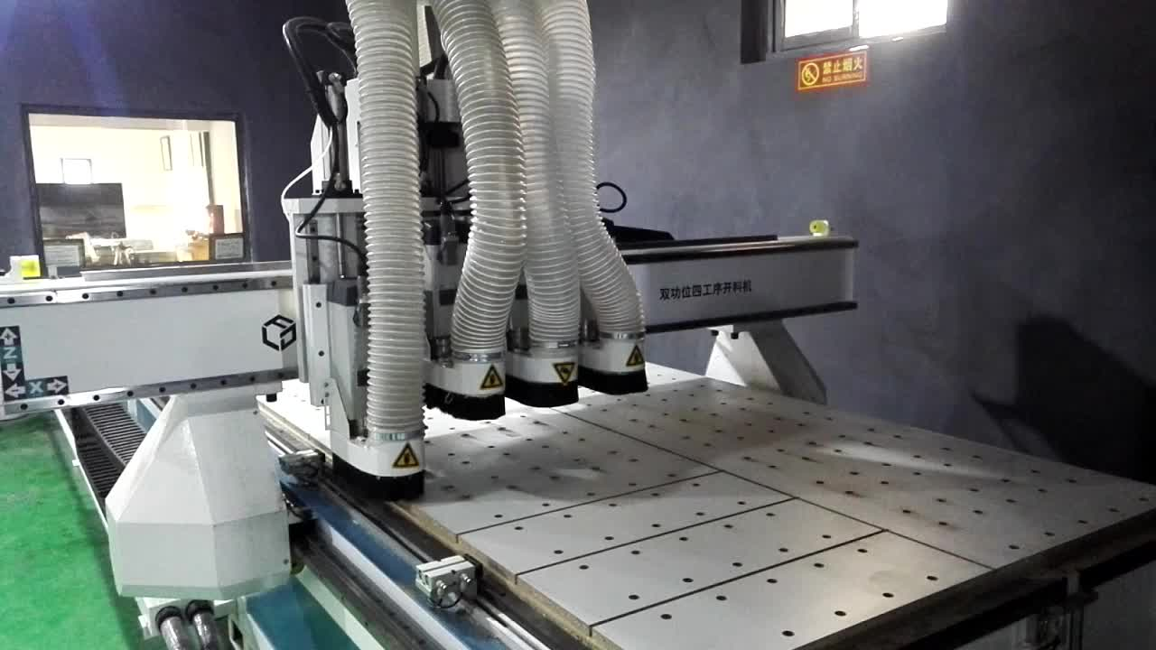 China three process 1325 cnc woodworking cnc router cutting engraving machine price with ATC tool changer italy spindle