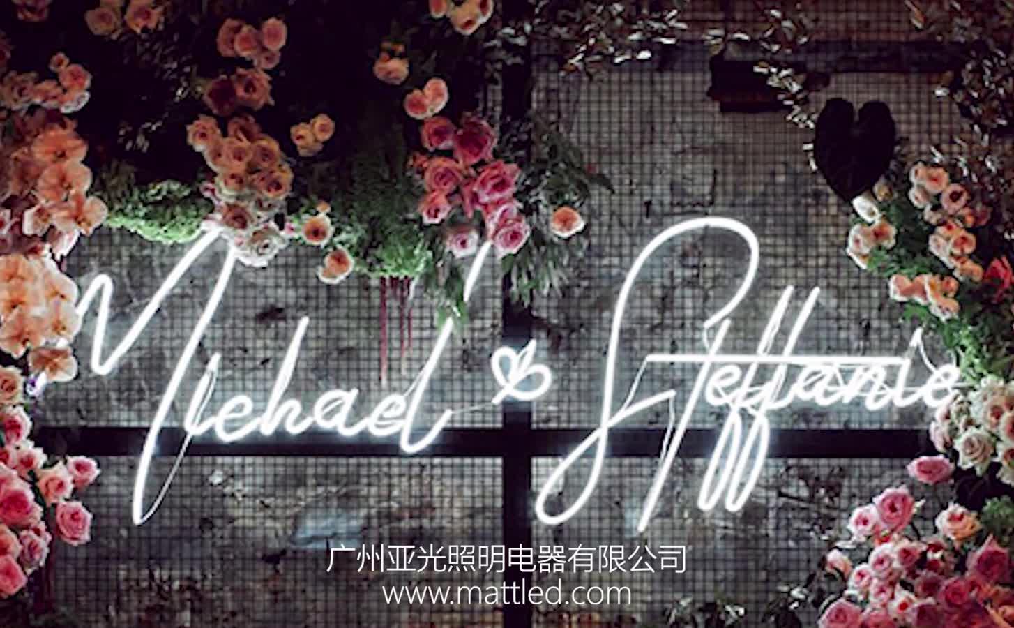 屋外装飾的なカスタムアクリル Led ネオンサインのための結婚式、イベント、家の装飾
