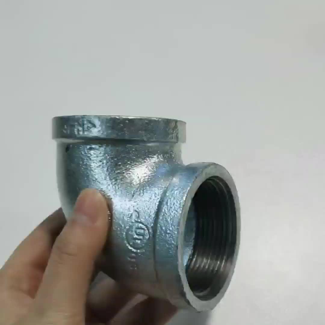 Adaptateur de filetage mâle BSP raccords de tuyaux hydrauliques femelles raccords en fonte malléable 1/2 pouces 90 degrés coude