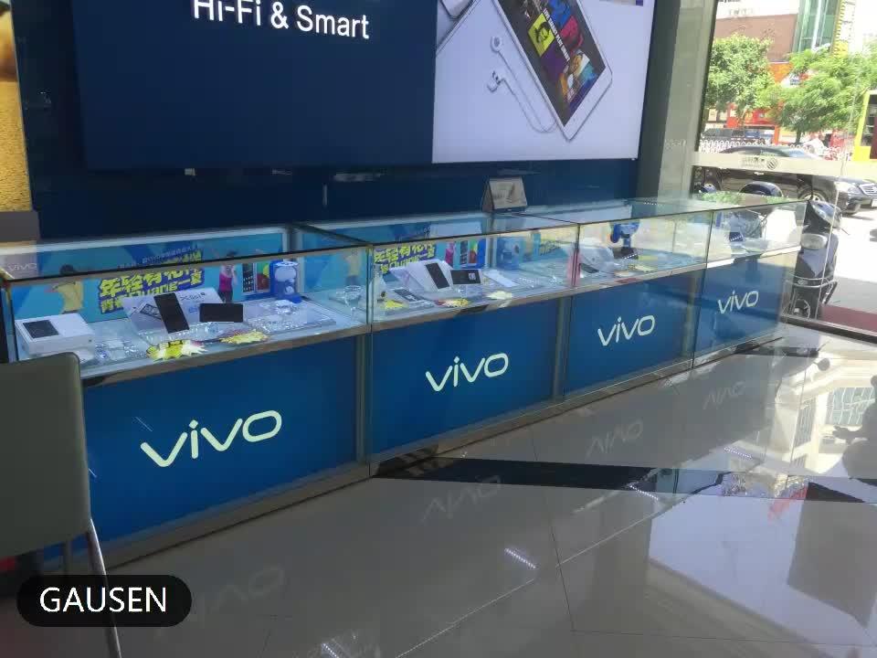 Möbel glas display handy shop zähler design für handy zähler display