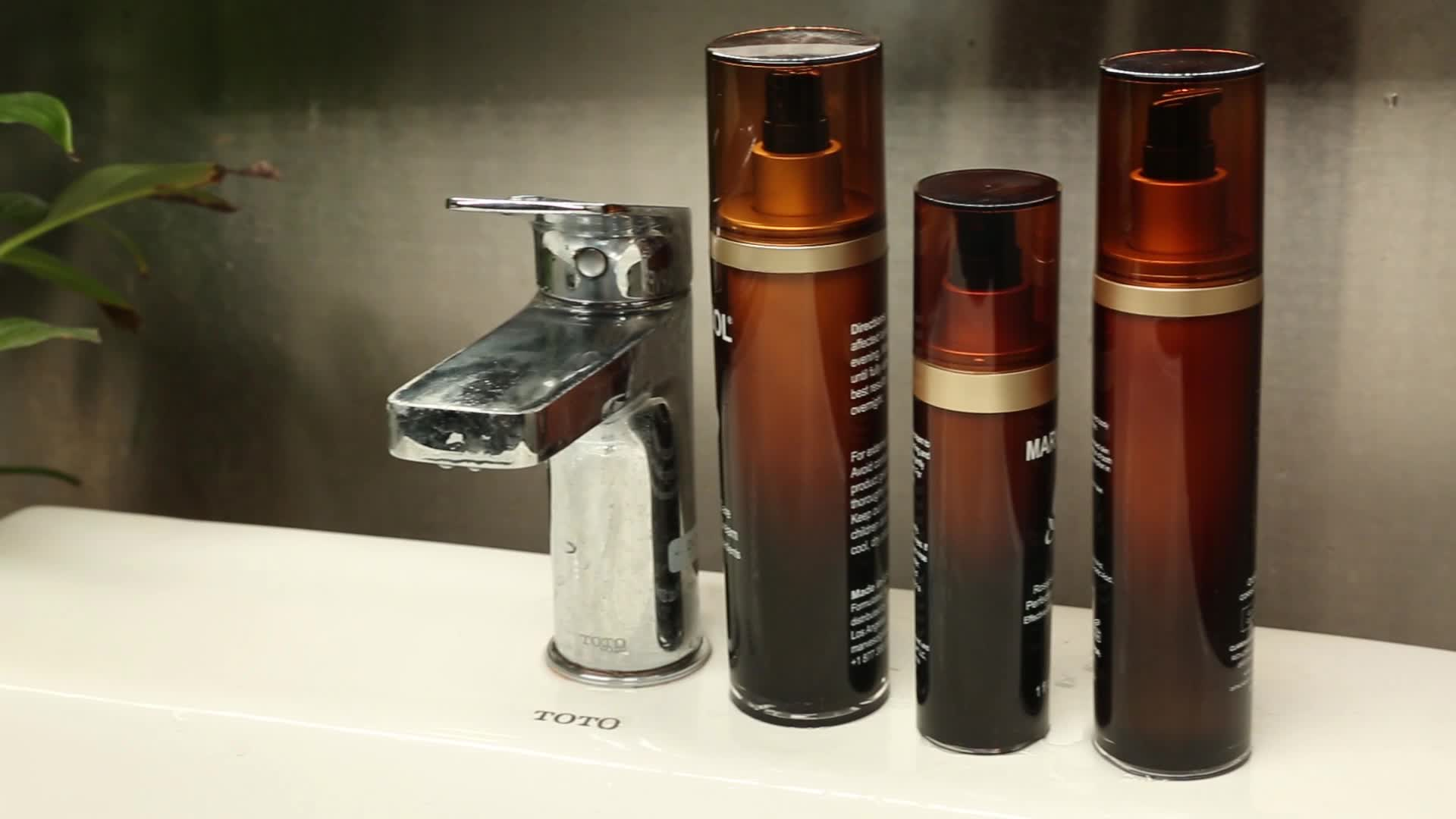 Großhandel leere kosmetische kunststoff lotion flasche