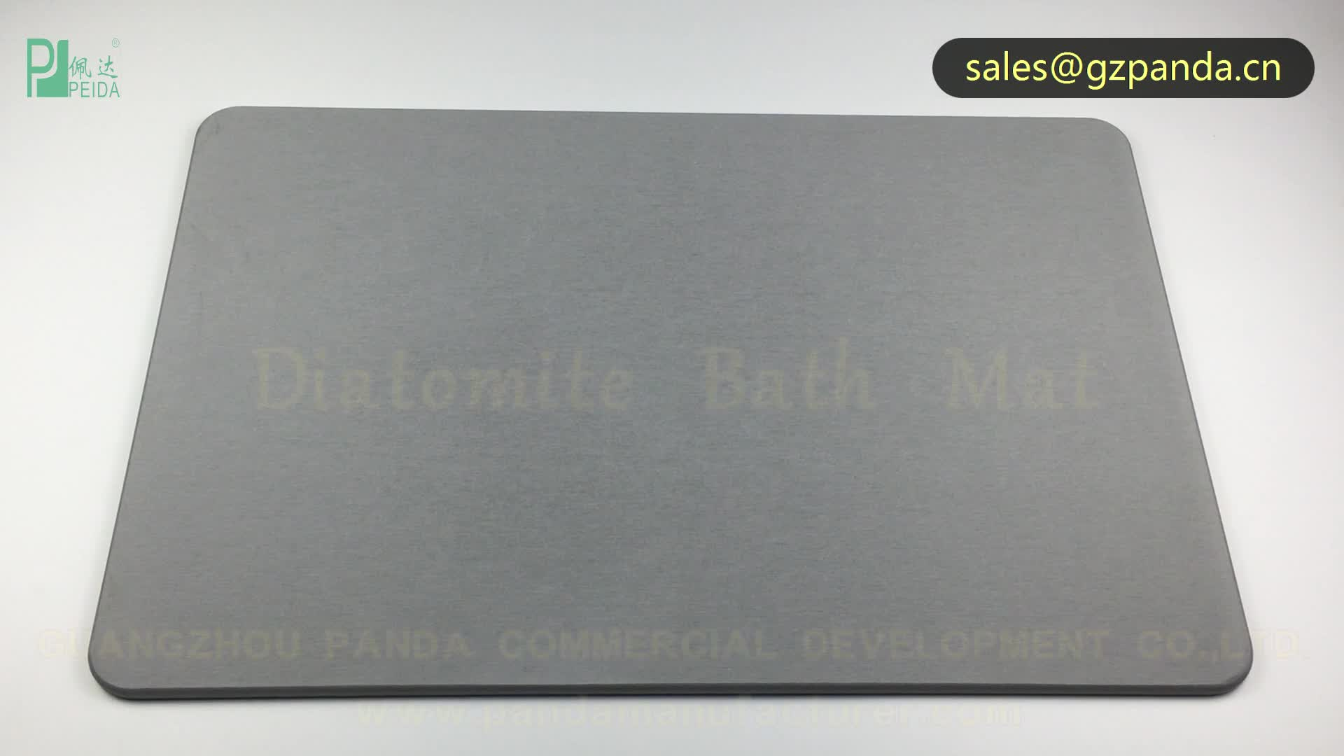 Diatomaceous Earth Washable Footprint Bath Mat Non Slip