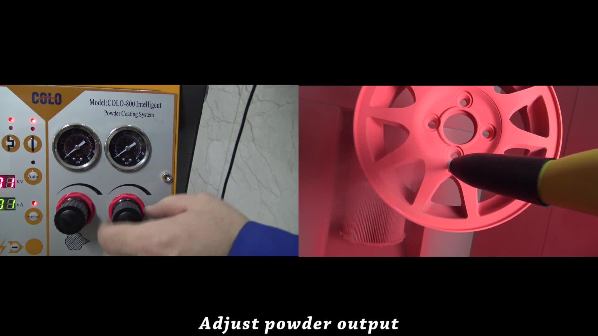 Manuelle elektrostatische Pulverbeschichtungsmaschine und Pistole