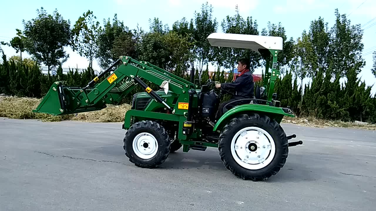 Factory supply 4 wheel drive 55hp garden tractor with front end loader