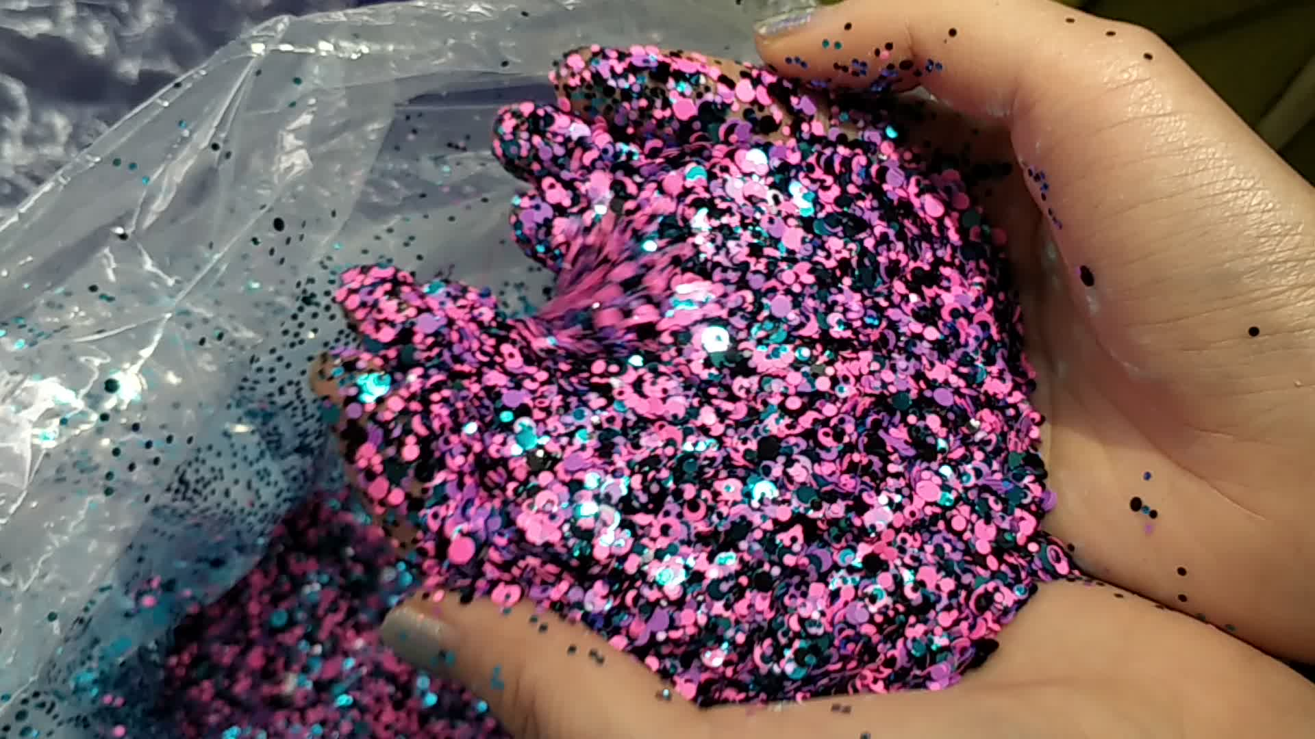 Factory price of colorful chunky mixed glitter