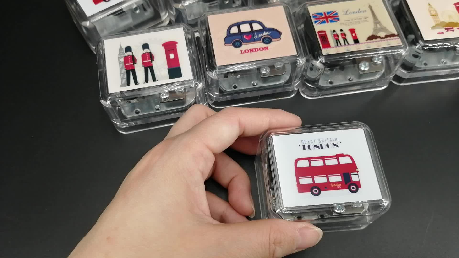 ขายร้อนมือ Crank กล่องอะครีลิคที่กำหนดเองกล่อง Mini กล่อง
