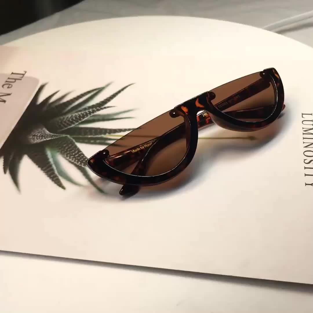 도매 OEM UV400 자 Favor Small Lens 2019 반 Frame Sun Glasses 대 한 Women Man