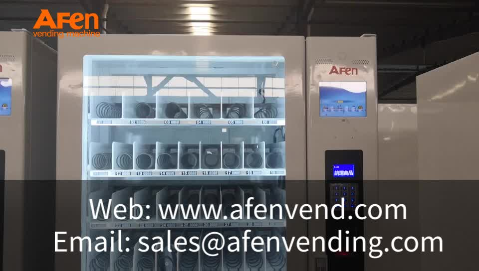 AFEN new coming combo drink and snack bill acceptor vending machine napkinks condoms