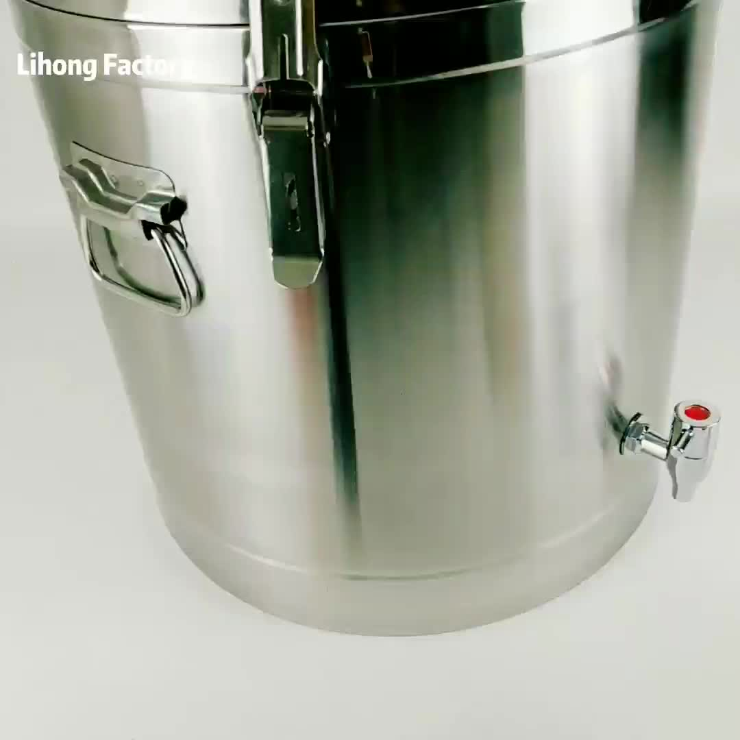 Stainless Steel 50L Beer Kettle Home Brewing Pot Metal Insulation Barrels