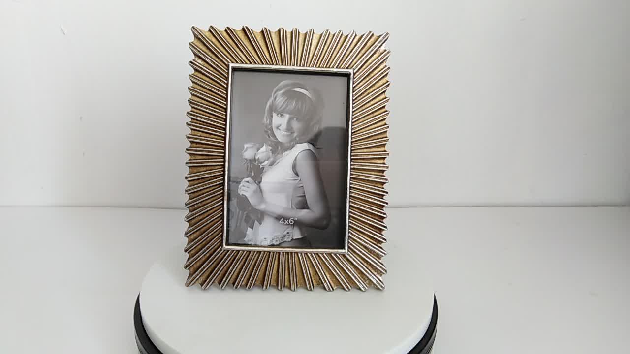 Decoración de la boda recuerdo resina de marco de foto de flor foto marco