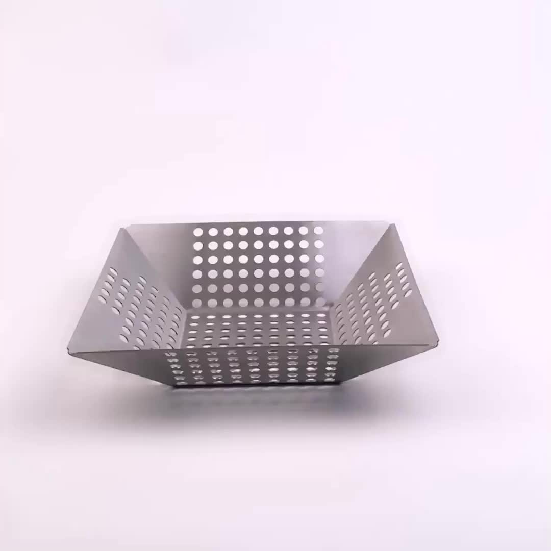 9 inch x 9 inch Stainless Steel Vegetable Grill Basket