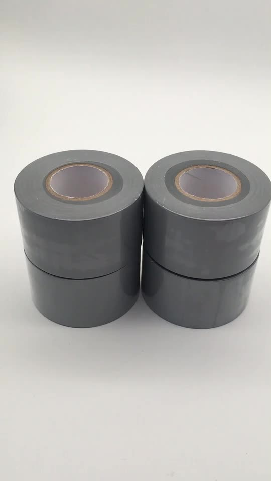 PVC Pipe Wrapping Tape PVC Joining and Sealing Tape PVC Duct Tape Grey Color 48mm*30m free sample