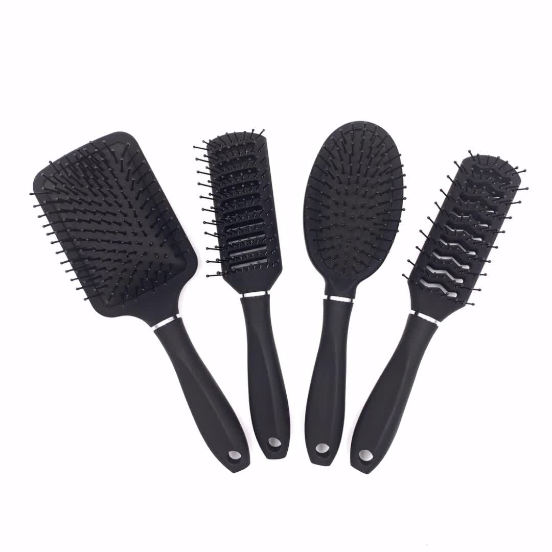 Hot White Abs Nylon Bristle Set Personalized With Mirror Best Hair Brush For Blow Drying