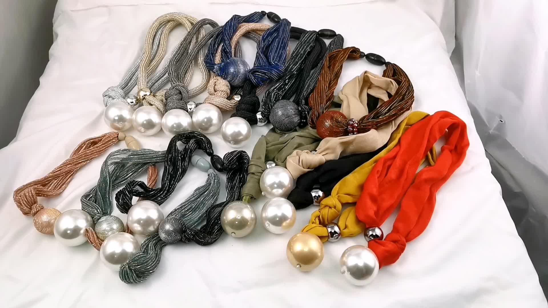 HANSIDON HandmadeเชือกปรับBig Pearlสร้อยคอผู้หญิงChokersจี้สร้อยคอแฟชั่นเครื่องประดับ