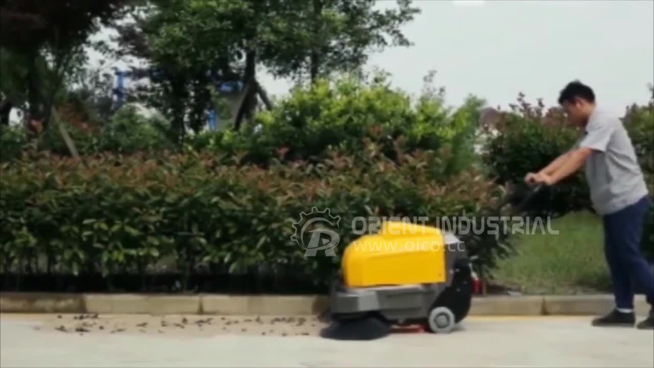 P100A Hand Push Street Sweeper Indoor Parking Lot Sweeper Street Cleaning Vehicle